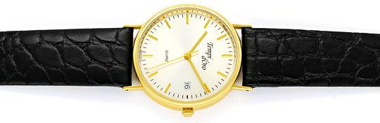 Foto 1, Tempi D Oro, Klassische Herren Armbanduhr, 14K Gelbgold, U2088
