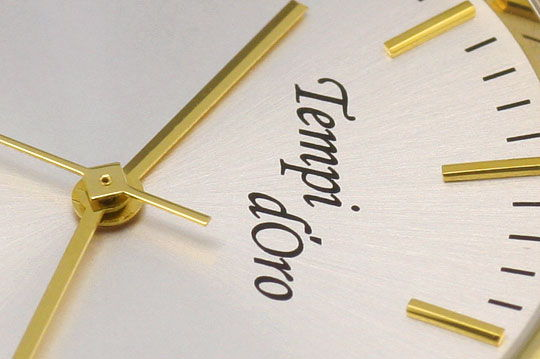 Foto 3, Tempi D Oro, Klassische Herren Armbanduhr, 14K Gelbgold, U2088