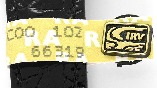 Foto 4, Must.de Cartier Vermeil Tank Kroko 925 Silber Vergoldet, U2090