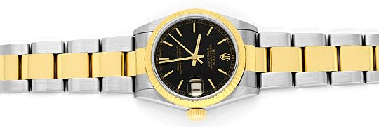 Foto 1, Rolex Medium Datejust Stahl Gold Oyster fast Neuzustand, U2092