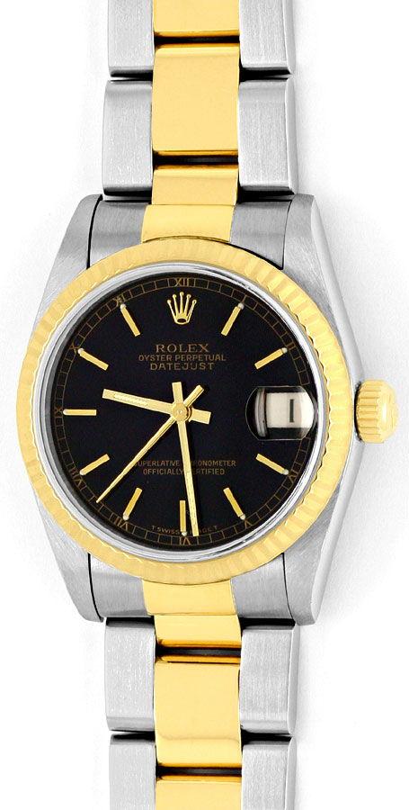 Foto 2, Rolex Medium Datejust Stahl Gold Oyster fast Neuzustand, U2092
