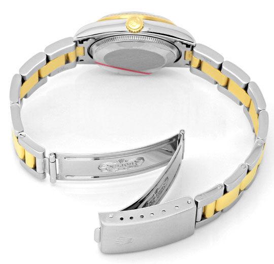Foto 5, Rolex Medium Datejust Stahl Gold Oyster fast Neuzustand, U2092