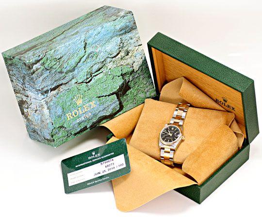 Foto 6, Rolex Medium Datejust Stahl Gold Oyster fast Neuzustand, U2092