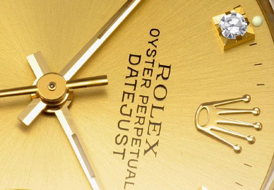Foto 3, Medium Rolex Datejust Uhr Stahlgold Diamant-Zifferblatt, U2095