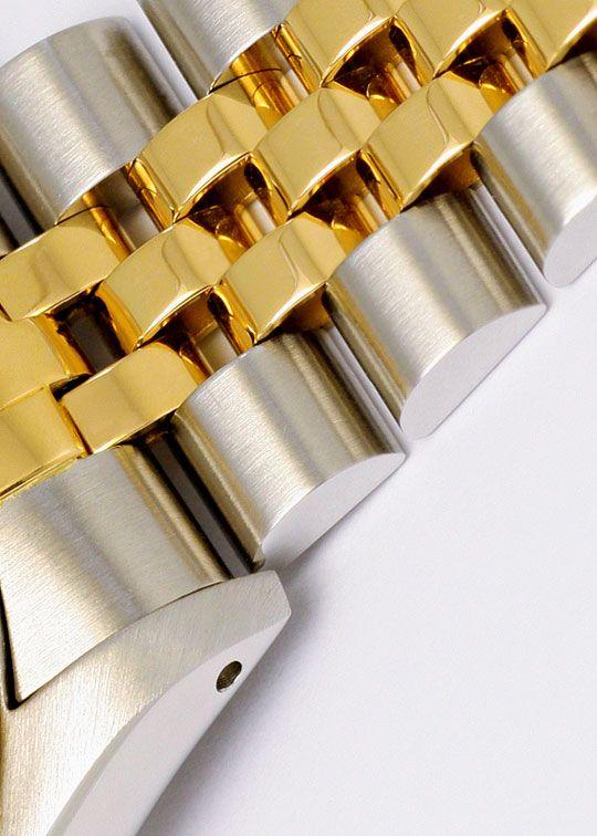 Foto 4, Medium Rolex Datejust Uhr Stahlgold Diamant-Zifferblatt, U2095