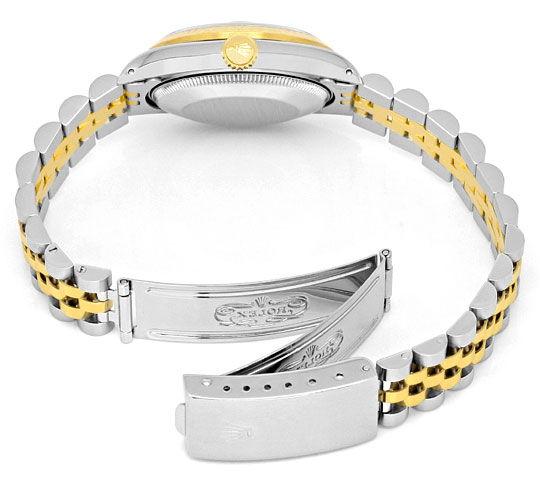 Foto 5, Medium Rolex Datejust Uhr Stahlgold Diamant-Zifferblatt, U2095