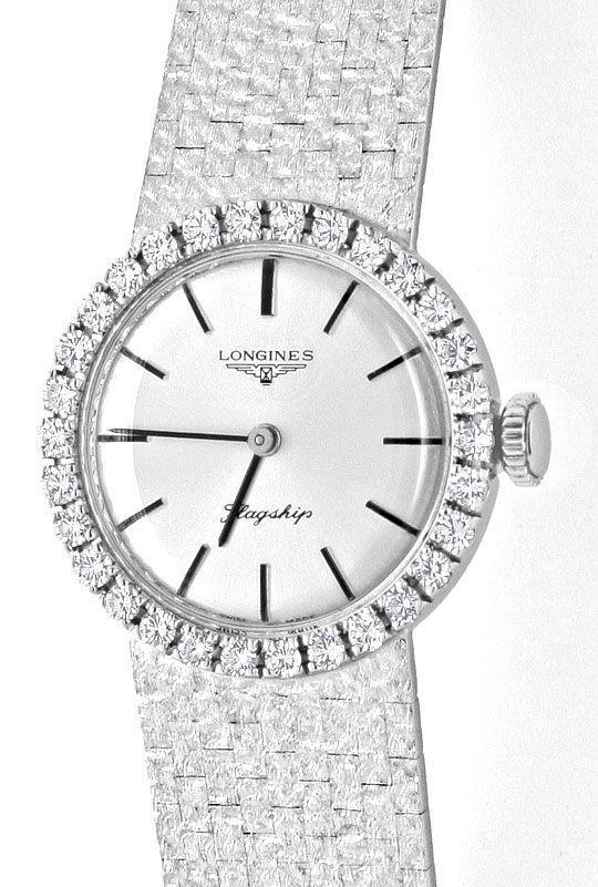Foto 2, Longines Flagship Damen Uhr Brilliant Lünette Weissgold, U2096
