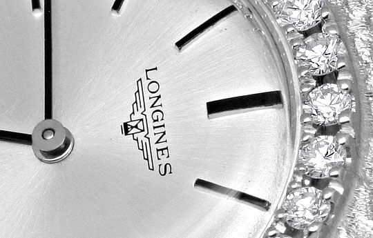 Foto 3, Longines Flagship Damen Uhr Brilliant Lünette Weissgold, U2096