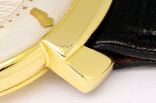 Foto 4, Le Coultre Vintage Lederband Gelbgold Herren Armbanduhr, U2105