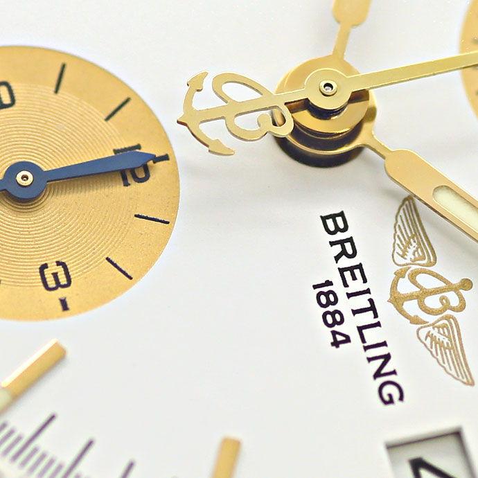 Foto 3, Breitling Chronomat Pilot Armband Stahl Gold Herren Uhr, U2107