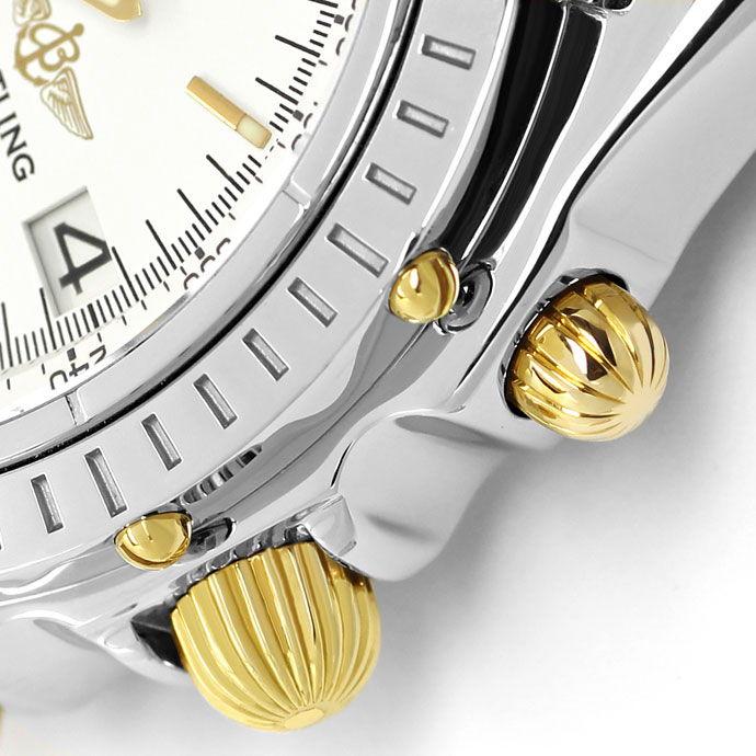 Foto 4, Breitling Chronomat Pilot Armband Stahl Gold Herren Uhr, U2107