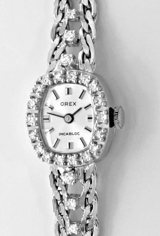 Foto 2, Orex Damen Uhr Diamanten Lünette und Band 18K Weissgold, U2118