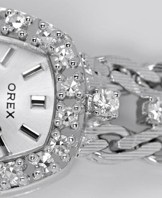 Foto 3, Orex Damen Uhr Diamanten Lünette und Band 18K Weissgold, U2118