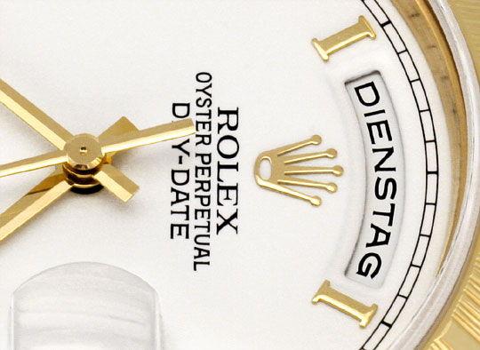Foto 3, Rolex Day Date Rinde Borke Herren Gelbgold Doppel Quick, U2119