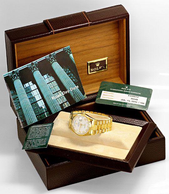 Foto 6, Rolex Day Date Rinde Borke Herren Gelbgold Doppel Quick, U2119