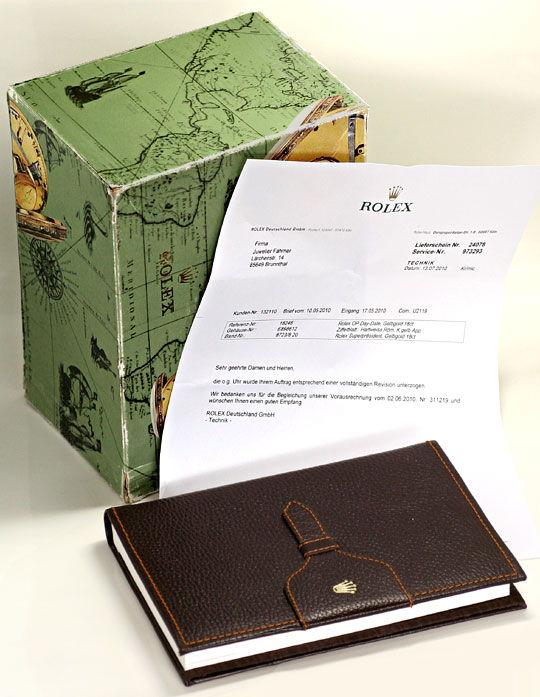 Foto 8, Rolex Day Date Rinde Borke Herren Gelbgold Doppel Quick, U2119