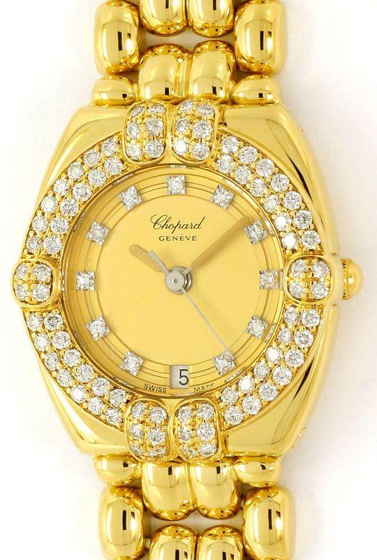 Foto 2, Chopard Gstaad Diamanten Lünette Zifferblatt Gold Damen, U2123