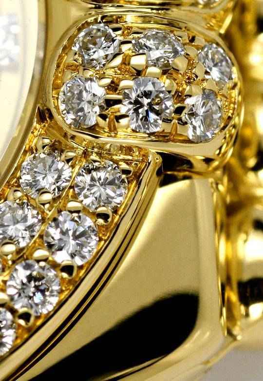 Foto 4, Chopard Gstaad Diamanten Lünette Zifferblatt Gold Damen, U2123