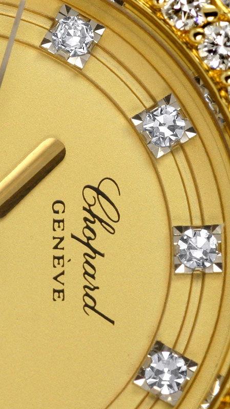Foto 5, Chopard Gstaad Diamanten Lünette Zifferblatt Gold Damen, U2123