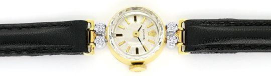 Foto 1, Rolex Damen Armband Uhr 0,16ct Brillanten 14K Gelb Gold, U2126