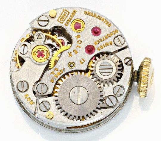 Foto 3, Rolex Damen Armband Uhr 0,16ct Brillanten 14K Gelb Gold, U2126