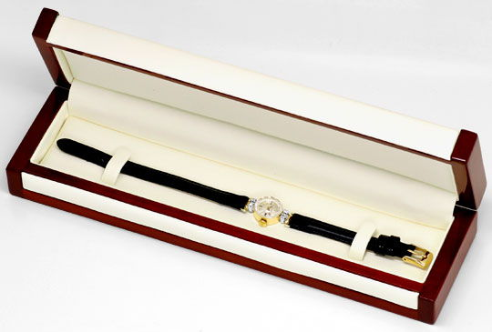 Foto 6, Rolex Damen Armband Uhr 0,16ct Brillanten 14K Gelb Gold, U2126