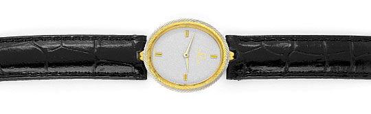 Foto 1, Omega Damen Armbanduhr 18K Gelbgold Weissgold Quarz Uhr, U2127