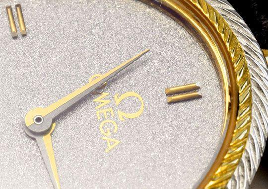 Foto 3, Omega Damen Armbanduhr 18K Gelbgold Weissgold Quarz Uhr, U2127