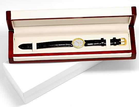 Foto 5, Omega Damen Armbanduhr 18K Gelbgold Weissgold Quarz Uhr, U2127