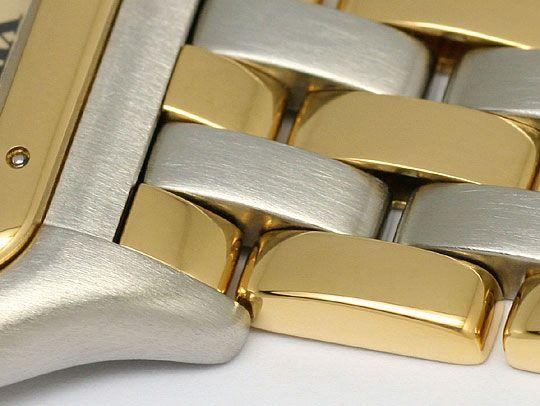 Foto 4, Cartier Panthere Stahl 3 Streifen Gold Herrenuhr Medium, U2133