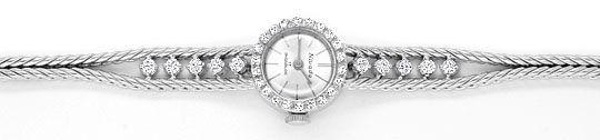 Foto 1, Nivada Damenuhr Weissgold Diamanten auf Armband und Uhr, U2136