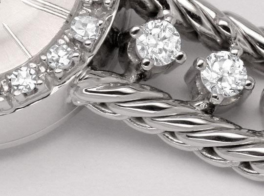Foto 3, Nivada Damenuhr Weissgold Diamanten auf Armband und Uhr, U2136