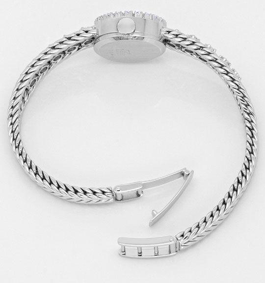 Foto 4, Nivada Damenuhr Weissgold Diamanten auf Armband und Uhr, U2136