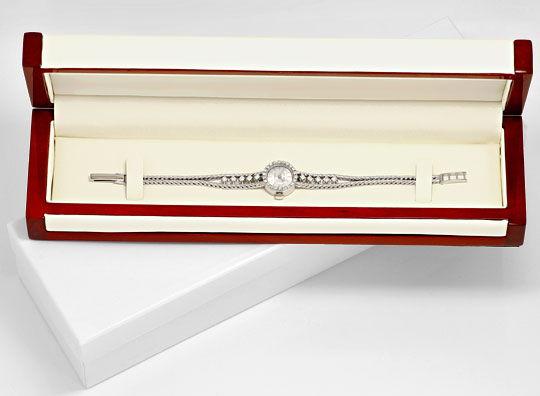 Foto 5, Nivada Damenuhr Weissgold Diamanten auf Armband und Uhr, U2136