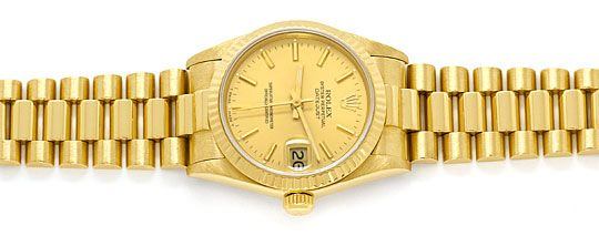 Foto 1, Rolex Datejust Präsidentband Gelbgold Medium-Armbanduhr, U2139