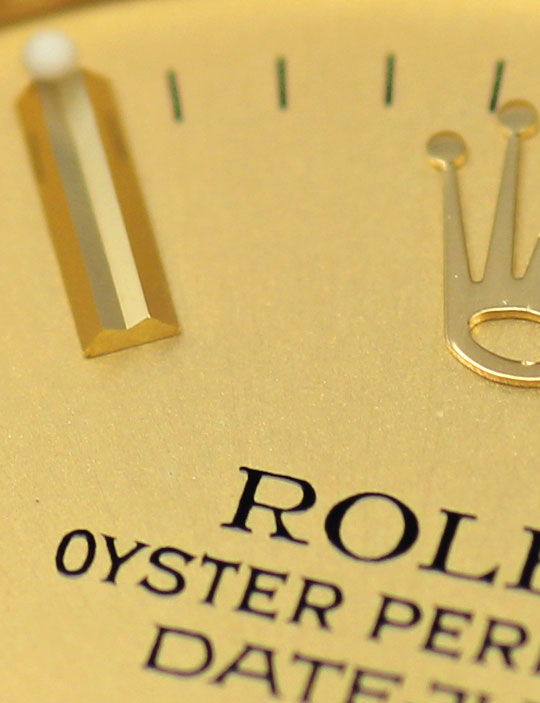 Foto 3, Rolex Datejust Präsidentband Gelbgold Medium-Armbanduhr, U2139