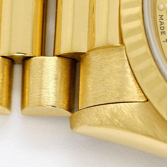 Foto 4, Rolex Datejust Präsidentband Gelbgold Medium-Armbanduhr, U2139