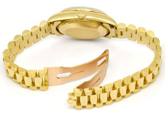 Foto 5, Rolex Datejust Präsidentband Gelbgold Medium-Armbanduhr, U2139