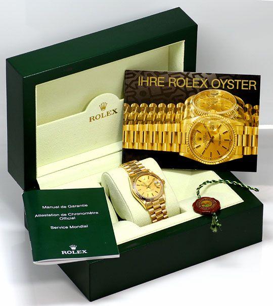 Foto 6, Rolex Datejust Präsidentband Gelbgold Medium Armbanduhr, U2139
