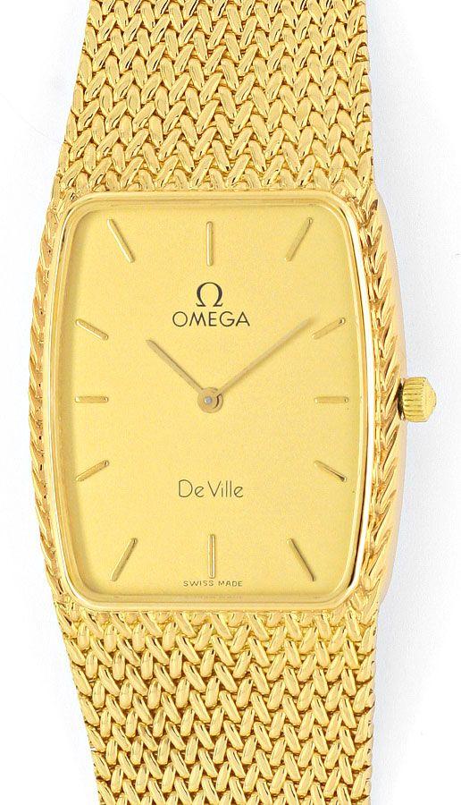 Foto 2, Omega de Ville Herren Uhr 18 Karat Gelb Gold Neuzustand, U2140