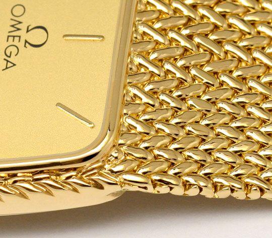 Foto 3, Omega de Ville Herren Uhr 18 Karat Gelb Gold Neuzustand, U2140