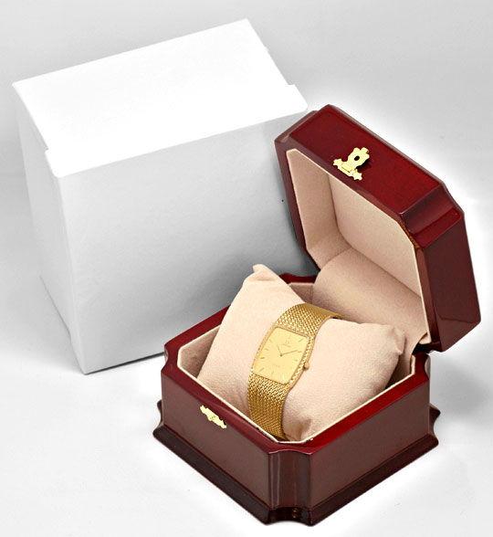 Foto 5, Omega de Ville Herren Uhr 18 Karat Gelb Gold Neuzustand, U2140