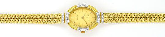 Foto 1, Bergana Damenarmbanduhr mit Diamanten Gelbgold 14 Karat, U2147