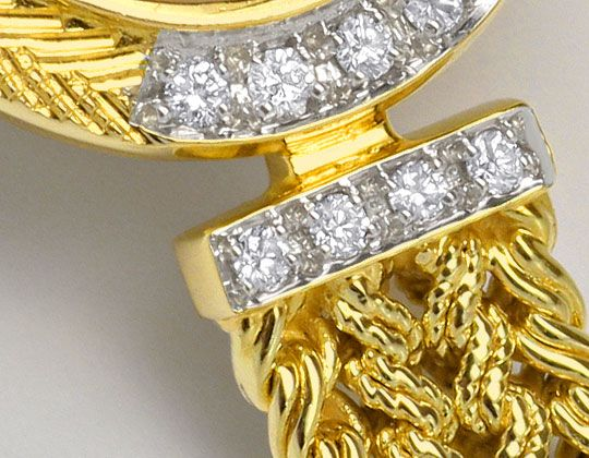 Foto 4, Bergana Damenarmbanduhr mit Diamanten Gelbgold 14 Karat, U2147