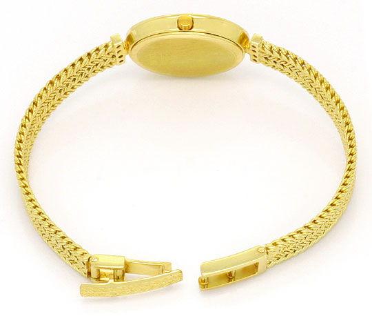 Foto 5, Bergana Damenarmbanduhr mit Diamanten Gelbgold 14 Karat, U2147