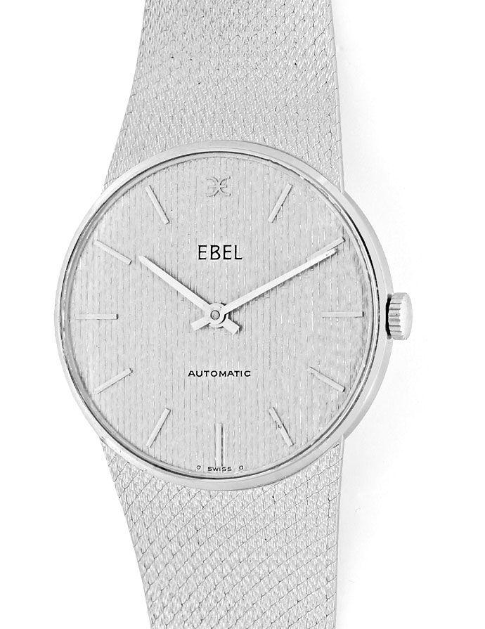 Foto 2 - Ebel Automatik Milanaise Herren Armbanduhr 18K Weißgold, U2154