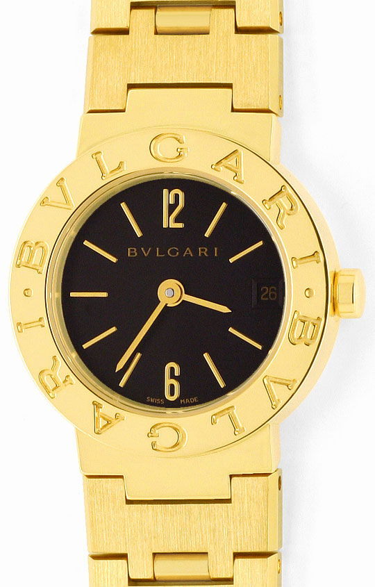 Foto 2, Bulgari Bulgari Gelbgold 18K Damen-Uhr, fast Ungetragen, U2163