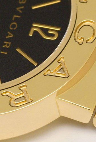 Foto 3, Bulgari Bulgari Gelbgold 18K Damen-Uhr, fast Ungetragen, U2163