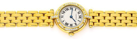 Foto 1 - Cartier Panthere Vendome Damenarmbanduhr Diamantlünette, U2165