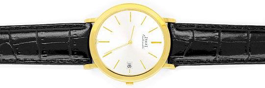 Foto 1, Welt-Flachste Automatik Piaget Herren-Uhr 18K Gelb-Gold, U2168